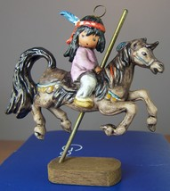 Degrazia Goebel Merry Little Indian Holiday Christmas Ornament Limited E... - $36.27