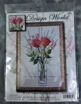 "New Design Works Counted Cross Stitch Kit ""Sketchbook Roses"" 11""X 18"" Sealed Pkg - $21.99"