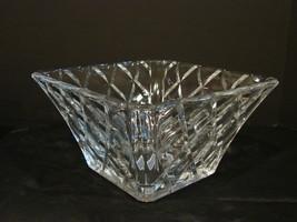 Mikasa Crystal 10 Inch Diamond Sparkle Square Bowl NIB image 4