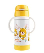 Cute Children Stainless Steel Insulation Cup Baby Sippy Cup Drinking Cup Yellow