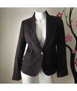 J Crew 100% Wool Brown One Button Blazer Suit Jacket Womens Size 8 Made ... - $31.50