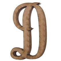 Wooden Cursive Alphabet Letters, Natural, 3-Inch, 6-Piece #PS_16711 (D) - $13.86