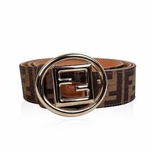 Authentic Fendi Zucca Monogram Canvas Belt FF Buckle Size 100/40 - $216.81