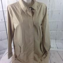 Gap Women Rain Coat XL Tan Color Only One Button Is Broken Bin22#13 - $18.70