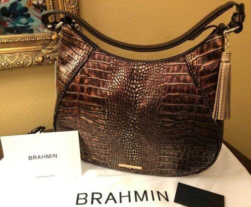 BRAHMIN AMIRA SHOULDER BAG BROWN MILAN  STUNNING COLOR NWT P30108800032