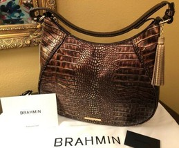 Brahmin Amira Shoulder Bag Brown Milan Stunning Color Nwt P30108800032 - $277.20