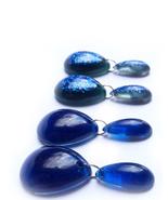 Cobalt Earrings, Everyday Earrings, Resin Earrings, Blue Earrings, Blue ... - $30.00