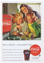 1948 Coca Cola red Fountain Dispenser teen girls Print Ad  - $9.99