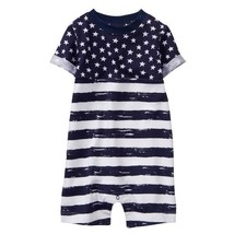 NWT Gymboree Patriotic Stars & Stripes Baby Boys 4th of July Romper Sunsuit - $10.99