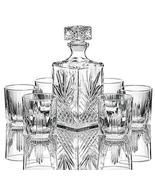 TkGoods 7 PCS Italian Crafted Glass Decanter & Glasses Set, with Stopper - $59.40