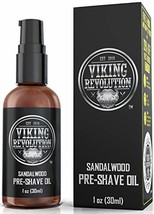 Pre Shave Oil for Men - Best Shaving Oil with Sandalwood for Safety Razor, Strai