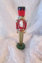 Nutcracker (SKINNY)  candle holder, RED - $5.90