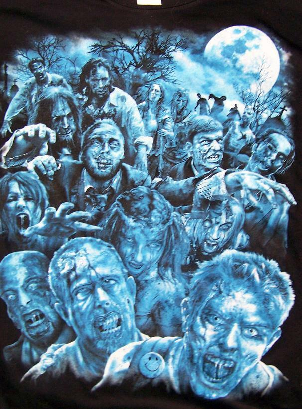 Primary image for ZOMBIE APOPCALYPSE BLACK TEE SHIRT SIZE XL adult TJB21 walking dead ZOMBIES new