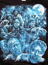 ZOMBIE APOPCALYPSE BLACK TEE SHIRT SIZE XL adult TJB21 walking dead ZOMB... - $7.17