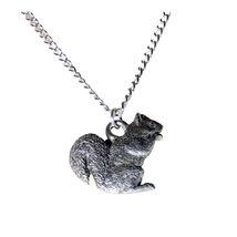 Gray Squirrel Necklace 755 - $32.00