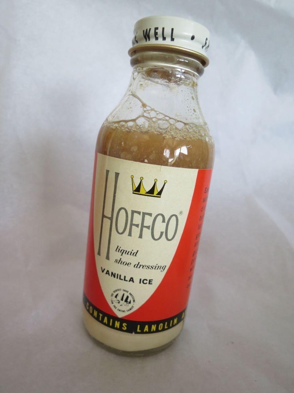 Merchandise & Memorabilia Other Merch & Memorabilia Ads Delicious Vintage Hoffco Liquid Shoe Dressing Vanilla Ice Advertisement Box W/ Bottle Full