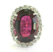 Red Tourmaline & Diamond 14Kt White Gold 13.84Ct - $4,455.00