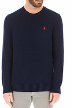 Polo Ralph Lauren HUNTER NAVY Cotton Crewneck Sweater, US Large - $43.31