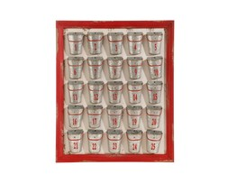 "Raz 24"" Rustic Red Framed Countdown to Christmas Bucket Calendar - $95.77"
