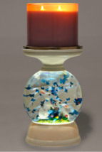 Bath & Body Works Home Decor Water Globe Easter Pedestal 3-Wick Candle Holder - $98.99