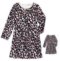 Gymboree Kitty in Pink Ponte Animal Leopard Print Dress Pink Zipper NWT - $13.99