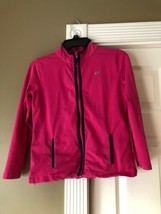 VINEYARD VINES Girls Pink Full-Zip Sweatshirt Top Sz Large 14 Guc - $12.34