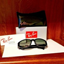 Vintage Bausch & Lomb Ray-Ban Sunglasses W2757 Black Frame New In Original Box - $89.10