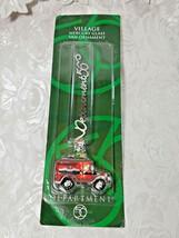 Dept 56 Village Mercury Glass Ornament Red Village Express Van NEW 2001  image 1