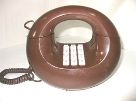 Vintage Retro Western Electric Sculptura Chocolate Brown Donut Rotary Phone - $29.99