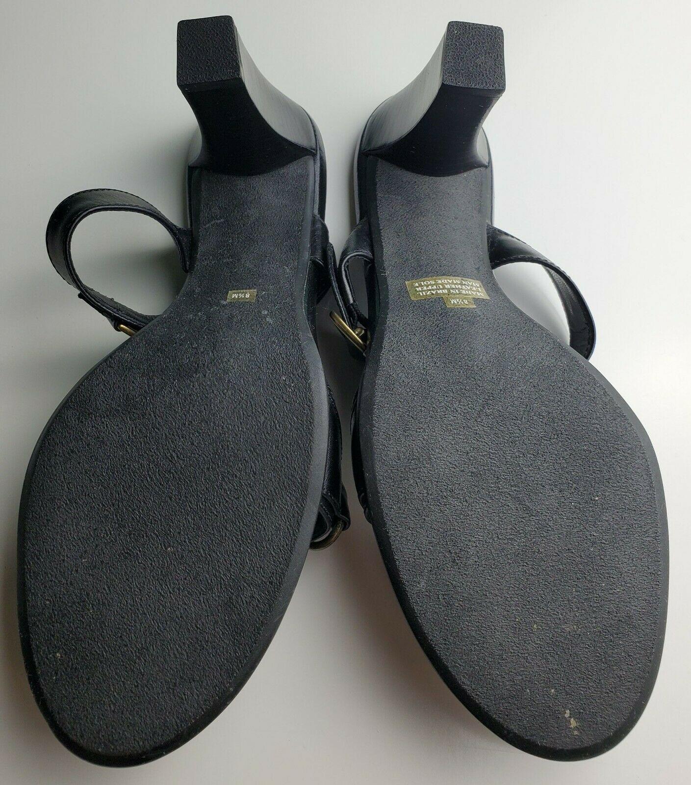Franco Sarto Black Two Strap Women's Heels With Jewel Size 8.5 image 8