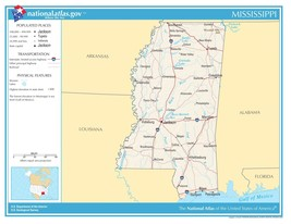 Mississippi State Reference Laminated Wall Map - $74.25