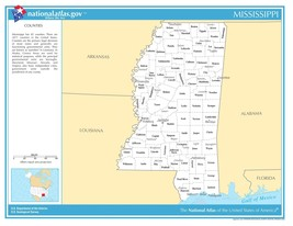 Mississippi State Counties w/Cities Laminated Wall Map - $74.25