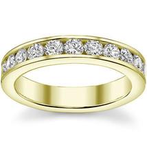 Women's Round Cut Moissanite 14K YG Channel-Set Anniversary Ring Wedding Band - $330.74+