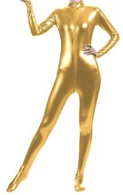 Unisex Shiny Metallic Full Body Unitard Catsuit Zentai Suit Gold - $39.99
