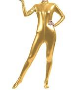 Unisex Shiny Metallic Full Body Unitard Catsuit Zentai Suit Gold - $39.99