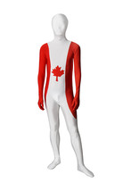 Full Body Canada Flag Lycra Spandex Zentai Suit Halloween Unitard - $39.99