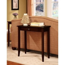 Console Coffee Sofa Table Drawer Home Living Room Furniture Hall Entry Wood - $64.69
