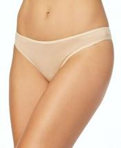 Calvin Klein Cotton Form Thong Panties Underwear QD3643-277 Bare Nude Beige NWT image 2