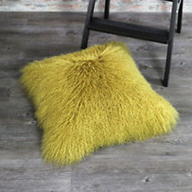 Real Mongolian Fur Cushion Cover Decorative Throw Pillow Sofa Pillows New  - $63.99+