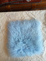 Decorative Mongolian Fur Pillow Throw Cushion Cover Pillowcase Double Si... - $63.99+