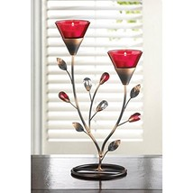 Candles RUBY BLOOMS CANDLEHOLDER Candle Light R... - $21.04