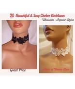 20 Beautiful Sexy Lace Choker Necklaces Wholesale, Wholesale Jewelry Acc... - $160.00