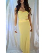 Beautiful Sexy Yellow Maxi Skirt Set, Maxi Dress, Summer Dress, Bridesma... - $55.00