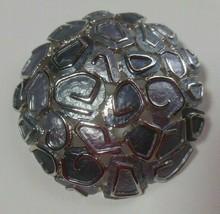 Rare Vintage Signed Hobe' Silver-tone Enamel Brooch  - $48.51