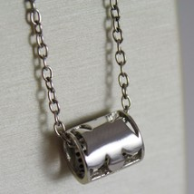 ROBERTO GIANNOTTI 925 SILVER BLACK ZIRCONIA NECKLACE TUBE ANGEL MADE IN ITALY image 3