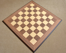 "DeluxeWalnut Maple WoodenChessBoard MatteFinish with Mouldededges 22""-55... - $312.99"