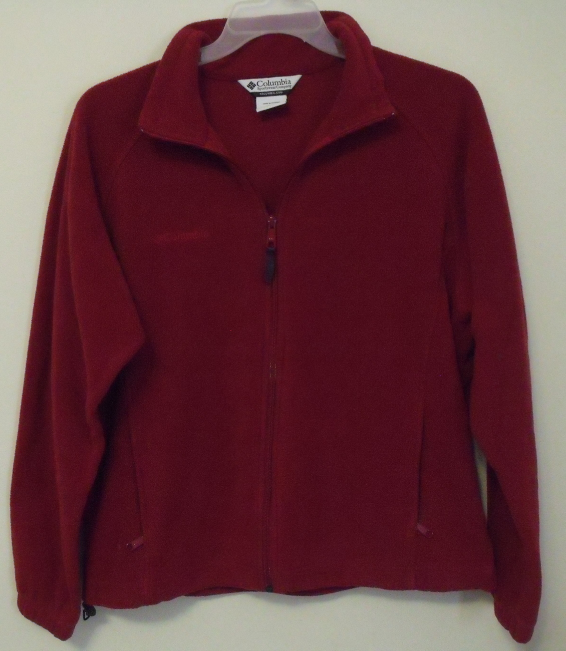 Columbia_red_fleece_jacket_xl