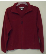 Womens Columbia Sportswear Red Long Sleeve Full Zipper Fleece Jacket Size XL - $19.00