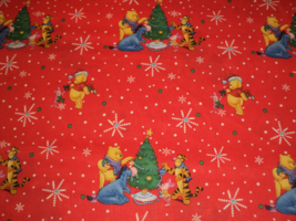 NEW Handmade Disney Winnie The Pooh/Tiger Red Christmas Dress Custom Sz1... - $54.98