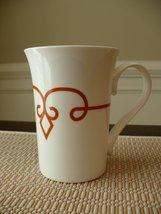 Starbucks Coffee Mug 2014 White Orange Stripe Diamond 11 Fl Oz Tazo Tea Cup with - $24.74